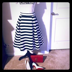 **New** black and white striped skirt